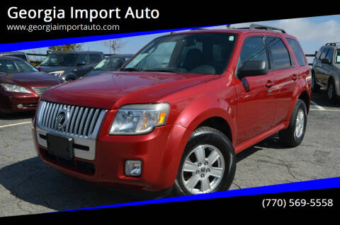 2010 Mercury Mariner for sale at Georgia Import Auto in Alpharetta GA