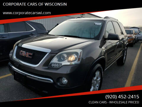 2011 GMC Acadia for sale at CORPORATE CARS OF WISCONSIN - DAVES AUTO SALES OF SHEBOYGAN in Sheboygan WI