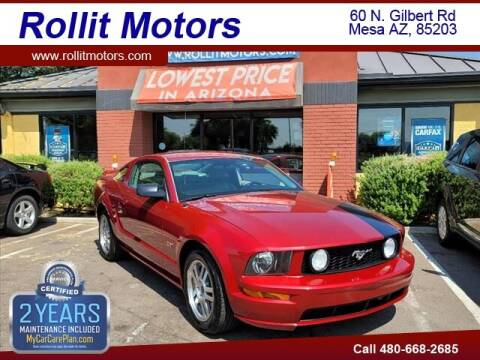 2005 Ford Mustang for sale at Rollit Motors in Mesa AZ