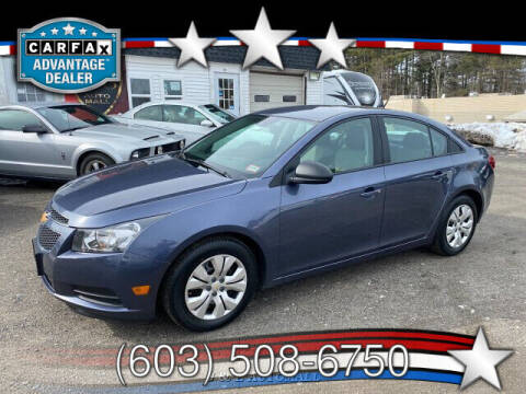 2014 Chevrolet Cruze for sale at J & E AUTOMALL in Pelham NH