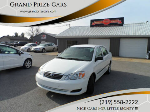 2007 Toyota Corolla for sale at Grand Prize Cars in Cedar Lake IN