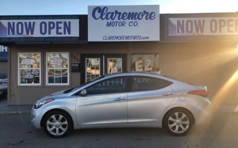 2013 Hyundai Elantra for sale at Claremore Motor Company in Claremore OK