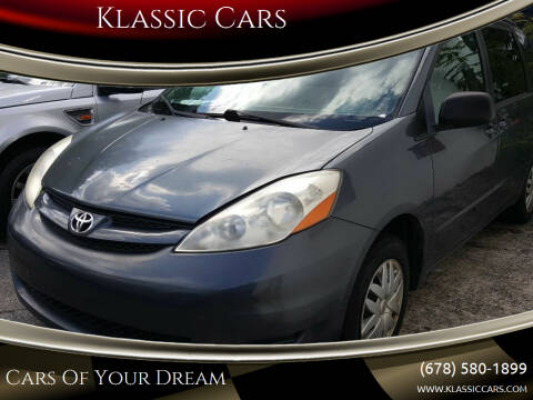 2008 Toyota Sienna for sale at Klassic Cars in Lilburn GA