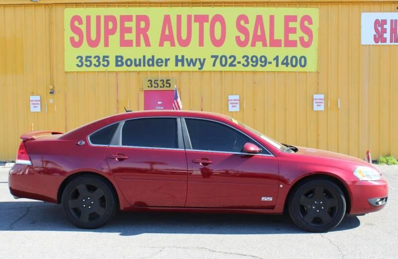 2007 Chevrolet Impala for sale at Super Auto Sales in Las Vegas NV