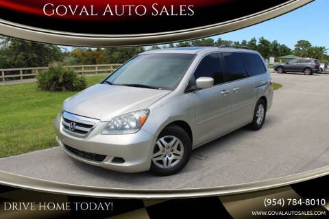 2006 Honda Odyssey for sale at Goval Auto Sales in Pompano Beach FL