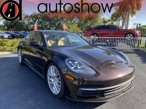 2017 Porsche Panamera for sale at AUTOSHOW SALES & SERVICE in Plantation FL