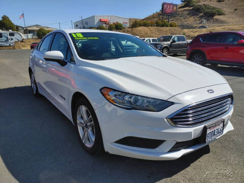 2018 Ford Fusion Hybrid for sale at Guy Strohmeiers Auto Center in Lakeport CA