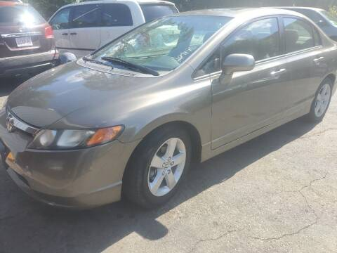 2008 Honda Civic for sale at NEW ENGLAND AUTO CENTER in Lowell MA
