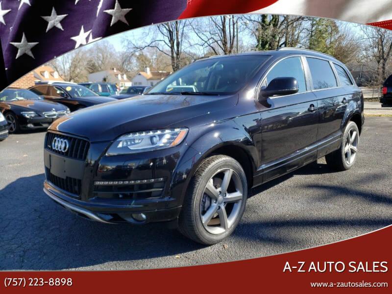 2015 Audi Q7 for sale at A-Z Auto Sales in Newport News VA