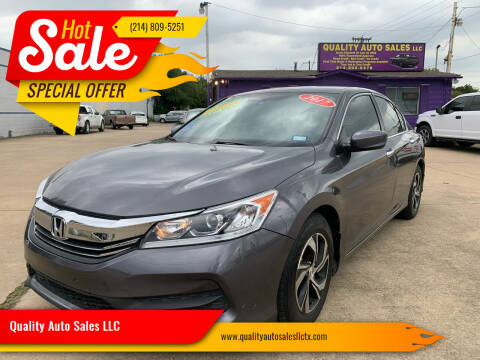 2017 Honda Accord for sale at Quality Auto Sales LLC in Garland TX