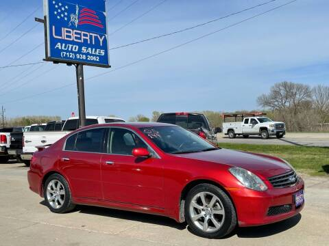 2005 Infiniti G35 for sale at Liberty Auto Sales in Merrill IA