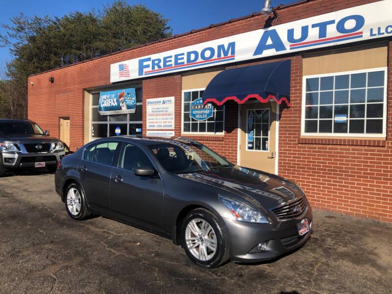 2012 Infiniti G37 Sedan for sale at FREEDOM AUTO LLC in Wilkesboro NC