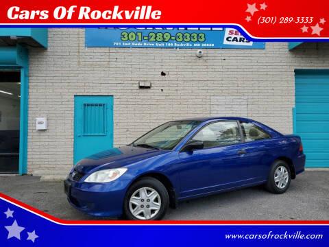 2004 Honda Civic for sale at Cars Of Rockville in Rockville MD
