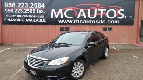 2013 Chrysler 200 for sale at MC Autos LLC in Pharr TX