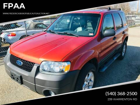2006 Ford Escape for sale at FPAA in Fredericksburg VA