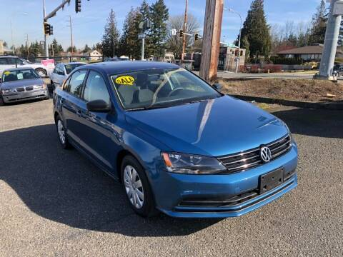 2015 Volkswagen Jetta for sale at KARMA AUTO SALES in Federal Way WA