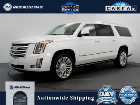 2017 Cadillac Escalade ESV for sale at INDY AUTO MAN in Indianapolis IN