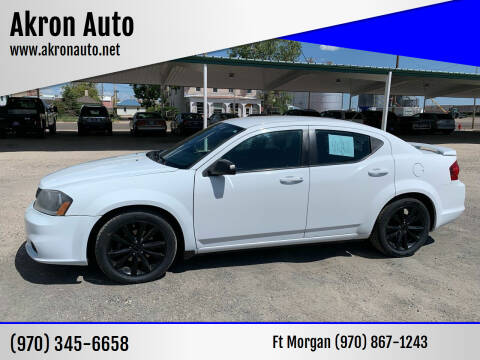 2014 Dodge Avenger for sale at Akron Auto - Fort Morgan in Fort Morgan CO