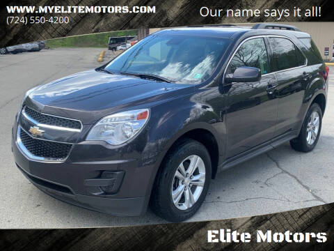 2015 Chevrolet Equinox for sale at Elite Motors in Uniontown PA