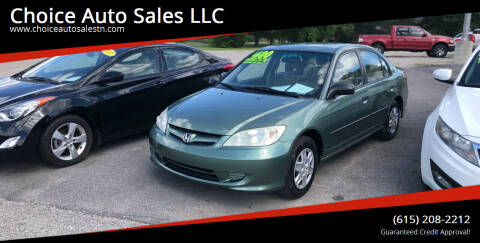 2004 Honda Civic for sale at Choice Auto Sales LLC - Buy Here Pay Here in White House TN