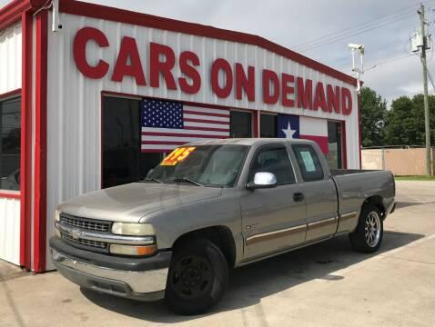 2001 Chevrolet Silverado 1500 for sale at Cars On Demand 3 in Pasadena TX