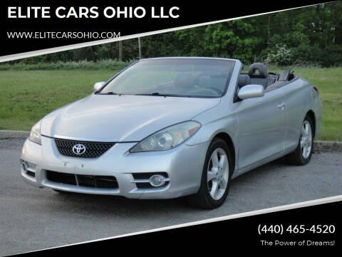 2007 Toyota Camry Solara for sale at ELITE CARS OHIO LLC in Solon OH