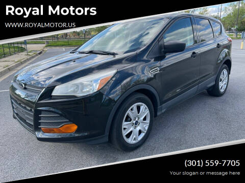 2015 Ford Escape for sale at Royal Motors in Hyattsville MD