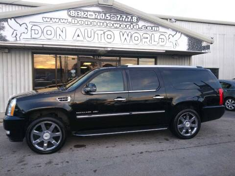 2011 Cadillac Escalade ESV for sale at Don Auto World in Houston TX