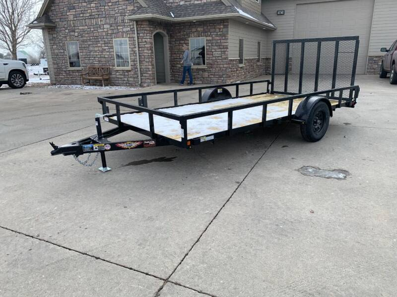 2021 H&H Rail Side Steel 82x14 #1591 for sale at Prairie Wind Trailers, LLC in Harrisburg SD