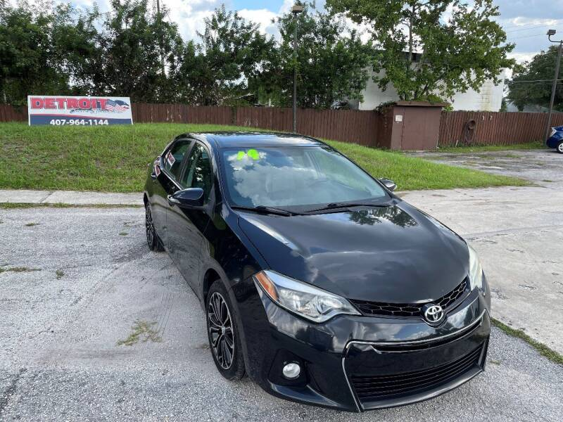 2014 Toyota Corolla for sale at Detroit Cars and Trucks in Orlando FL