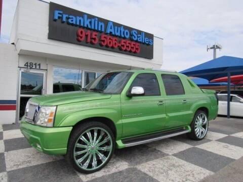 2004 Cadillac Escalade EXT for sale at Franklin Auto Sales in El Paso TX