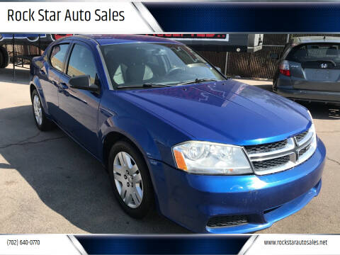 2013 Dodge Avenger for sale at Rock Star Auto Sales in Las Vegas NV