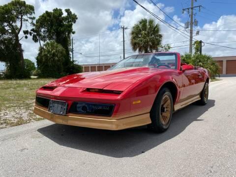 1984 Pontiac Trans Am Convertible for sale at American Classics Autotrader LLC in Pompano Beach FL