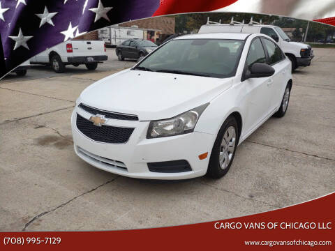 2013 Chevrolet Cruze for sale at Cargo Vans of Chicago LLC in Mokena IL