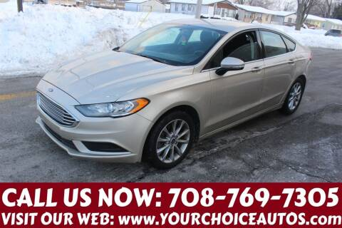 2017 Ford Fusion for sale at Your Choice Autos in Posen IL