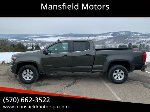 2018 Chevrolet Colorado for sale at Mansfield Motors in Mansfield PA