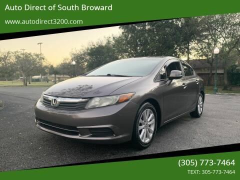 2012 Honda Civic for sale at Auto Direct of South Broward in Miramar FL