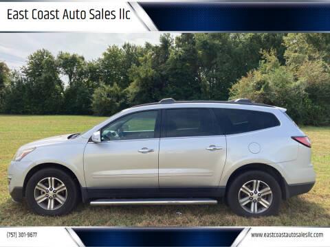 2016 Chevrolet Traverse for sale at East Coast Auto Sales llc in Virginia Beach VA