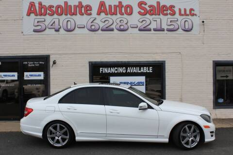 2014 Mercedes-Benz C-Class for sale at Absolute Auto Sales in Fredericksburg VA