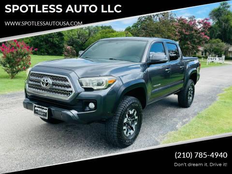 2016 Toyota Tacoma for sale at SPOTLESS AUTO LLC in San Antonio TX