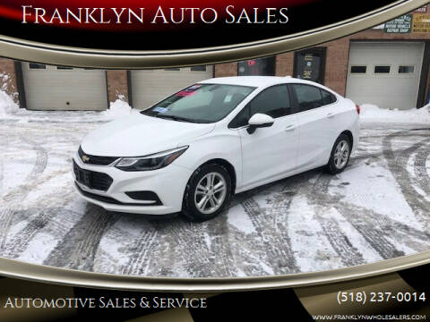 2017 Chevrolet Cruze for sale at Franklyn Auto Sales in Cohoes NY