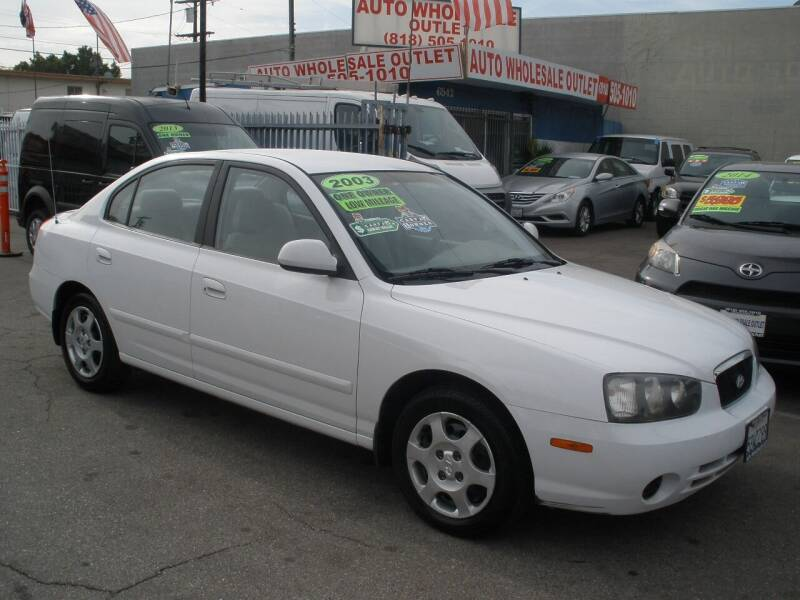 2003 Hyundai Elantra for sale at AUTO WHOLESALE OUTLET in North Hollywood CA