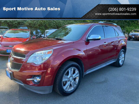2011 Chevrolet Equinox for sale at Sport Motive Auto Sales in Seattle WA