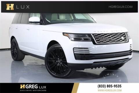 2018 Land Rover Range Rover for sale at HGREG LUX EXCLUSIVE MOTORCARS in Pompano Beach FL