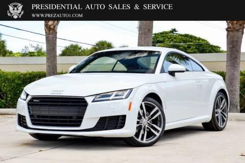 2016 Audi TT for sale at Presidential Auto  Sales & Service in Delray Beach FL