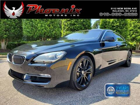 2013 BMW 6 Series for sale at Phoenix Motors Inc in Raleigh NC