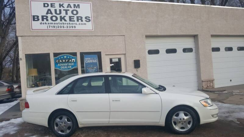 2003 Toyota Avalon for sale at De Kam Auto Brokers in Colorado Springs CO