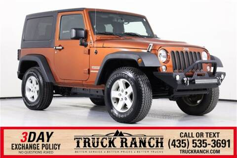 2014 Jeep Wrangler for sale at Truck Ranch in Logan UT