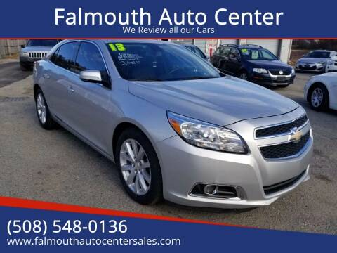 2013 Chevrolet Malibu for sale at Falmouth Auto Center in East Falmouth MA