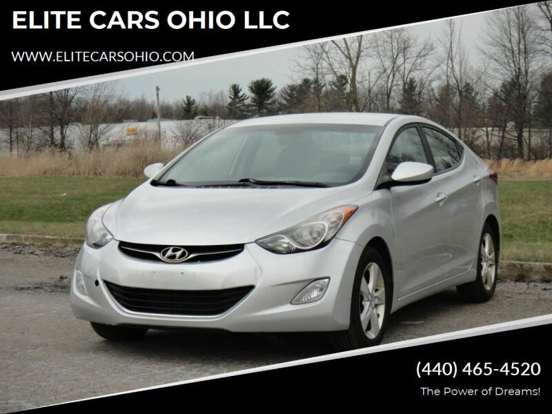 2013 Hyundai Elantra for sale at ELITE CARS OHIO LLC in Solon OH